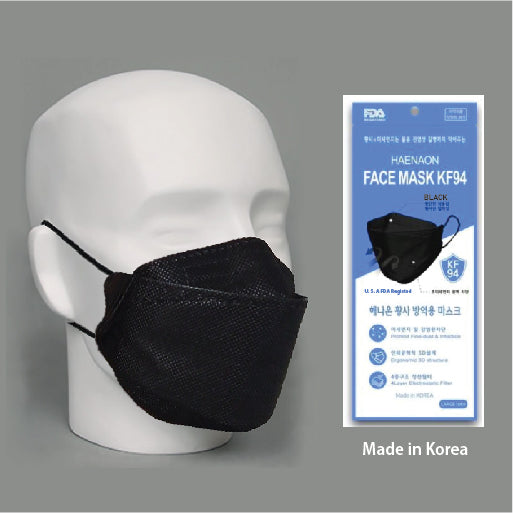 HAENAON FACE MASK KF 94 - LARGE / BLACK