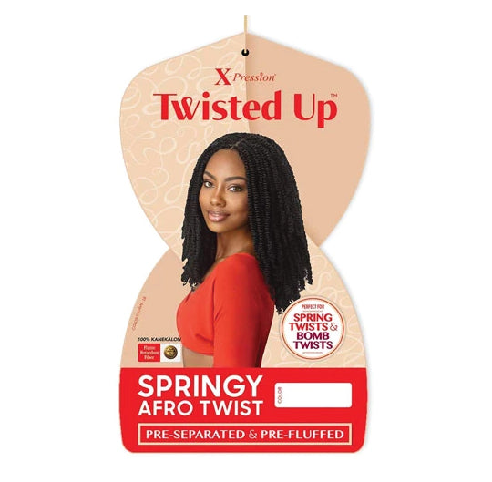 TWISTED UP 3X -SPRINGY AFRO TWIST 24""