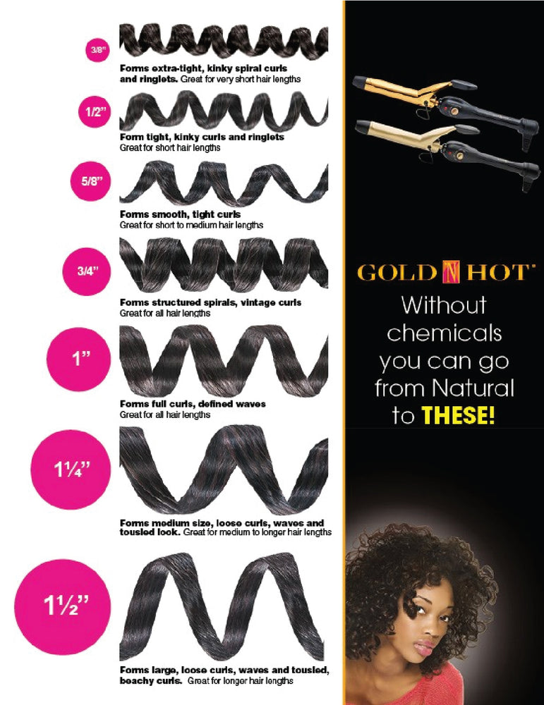 Gold-N-Hot Professional 24K Gold Spring Curling Iron  3/4""
