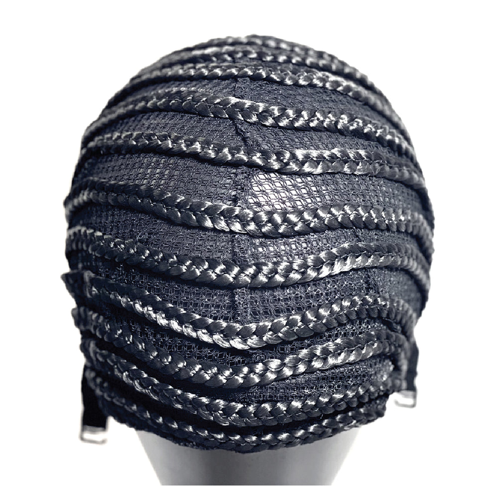Load image into Gallery viewer, BRAIDED CORNROW CAP BLACK #5025