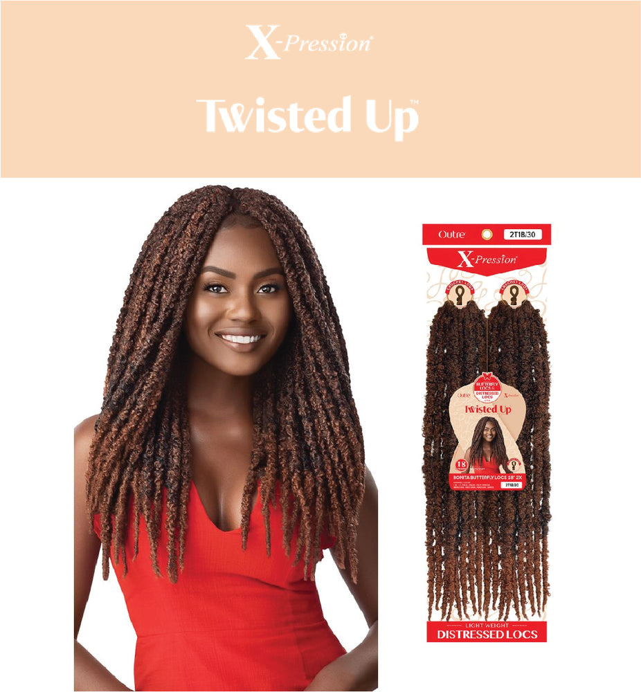 "TWISTED UP - BONITA BUTTERFLY LOCS 18"" 2X"