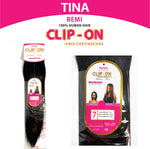"TINA CLIP-ON 7PCS 18"", 22"""