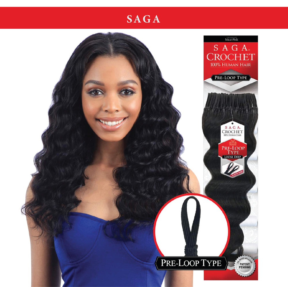 CROCHET LOOP TYPE LOOSE DEEP 10-18""