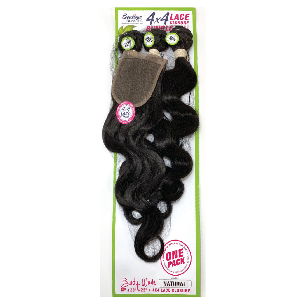 Load image into Gallery viewer, BOUTIQUE BUNDLE DEAL 4 X 4 FULL LACE BODY WAVE 18/20/22""