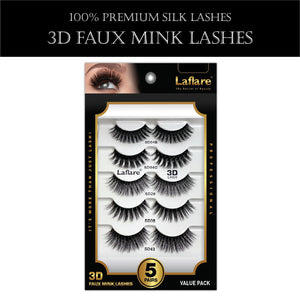 3D FAUX MINK LASHES VALUE PACK-HSR5P