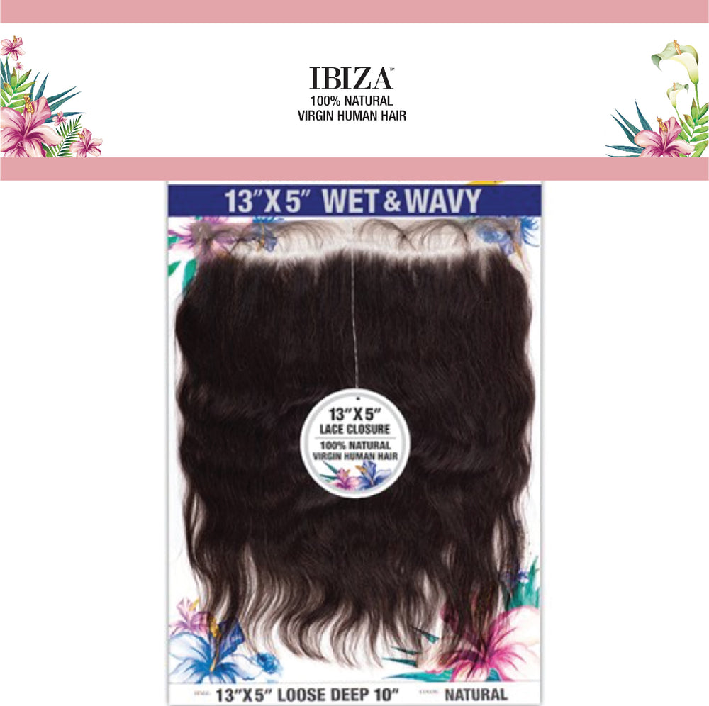 "IBIZA WET & WAVY 13X5 LOOSE DEEP CLOSURE 10""-16"""