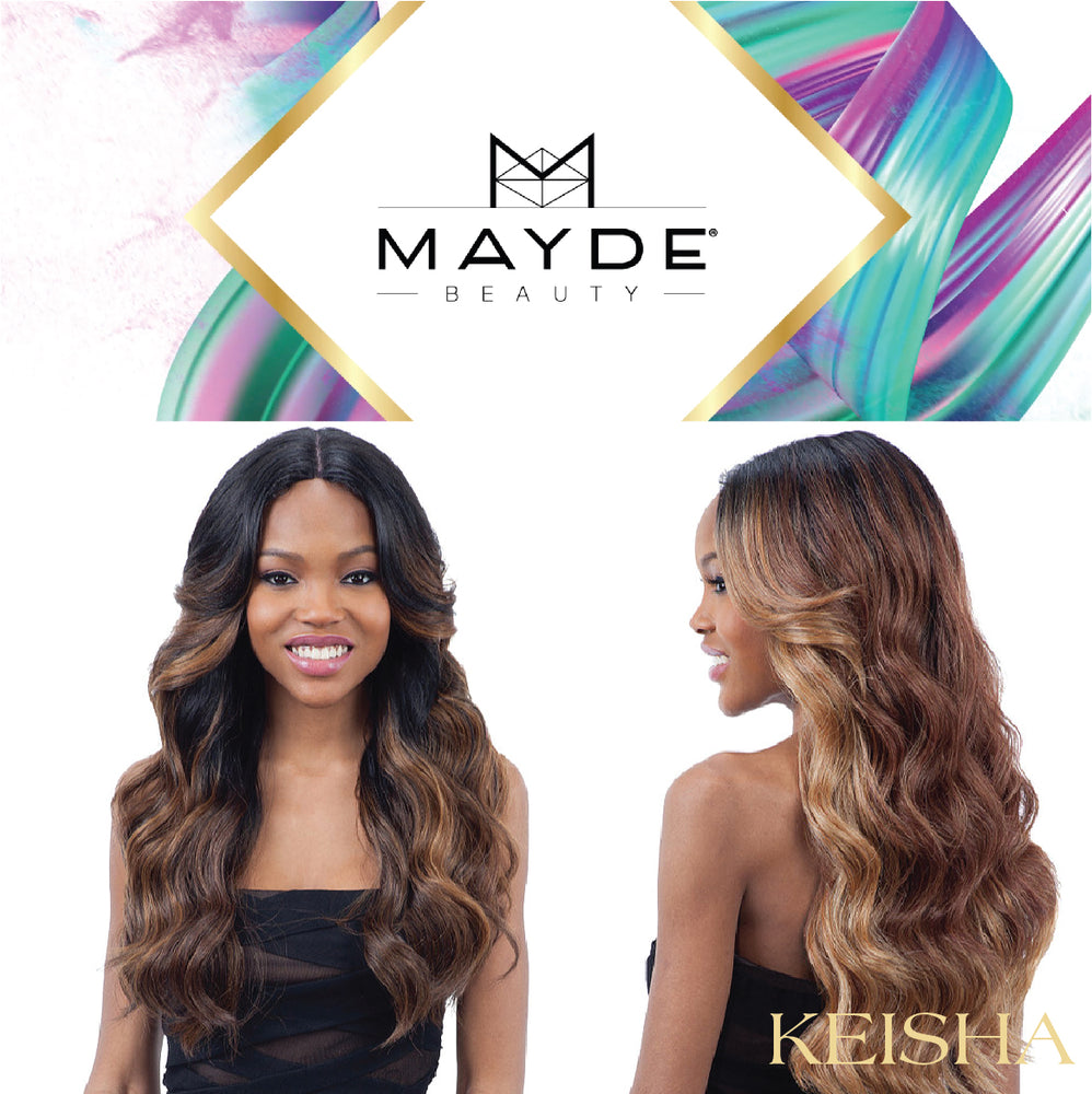 MAYDE BEAUTY SYNTHETIC 5 INCH INVISIBLE LACE PART WIG - KEISHA