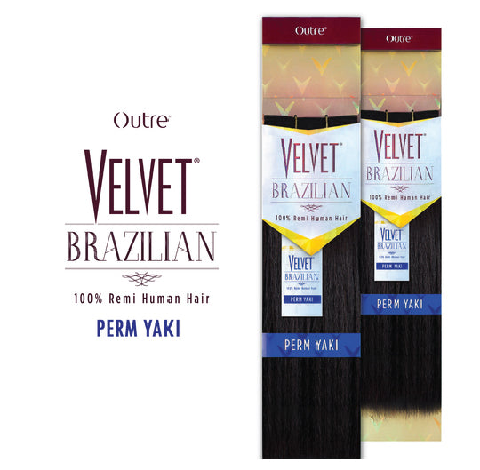 "Load image into Gallery viewer, VELVET BRAZILIAN REMI PERM YAKI 10S,10"",12"",14"",16"",18"""