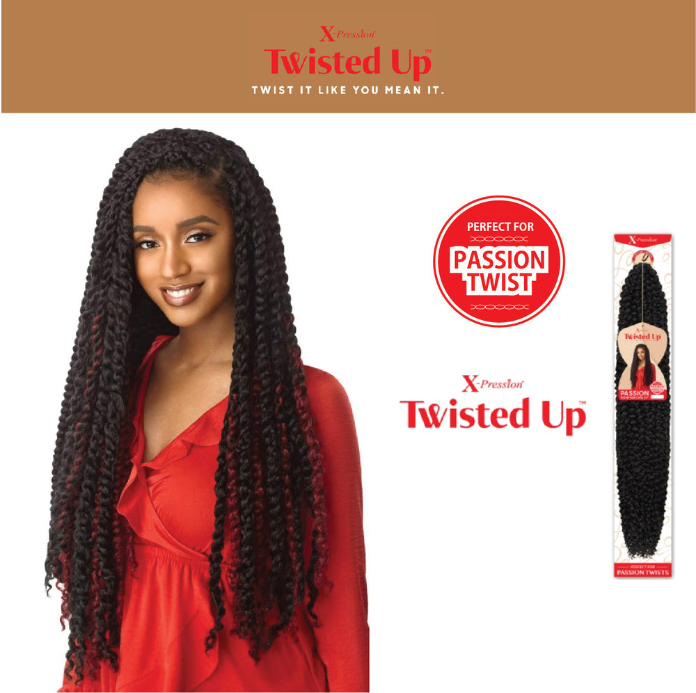 TWISTED UP - PASSION BOHEMIAN CURL 24""