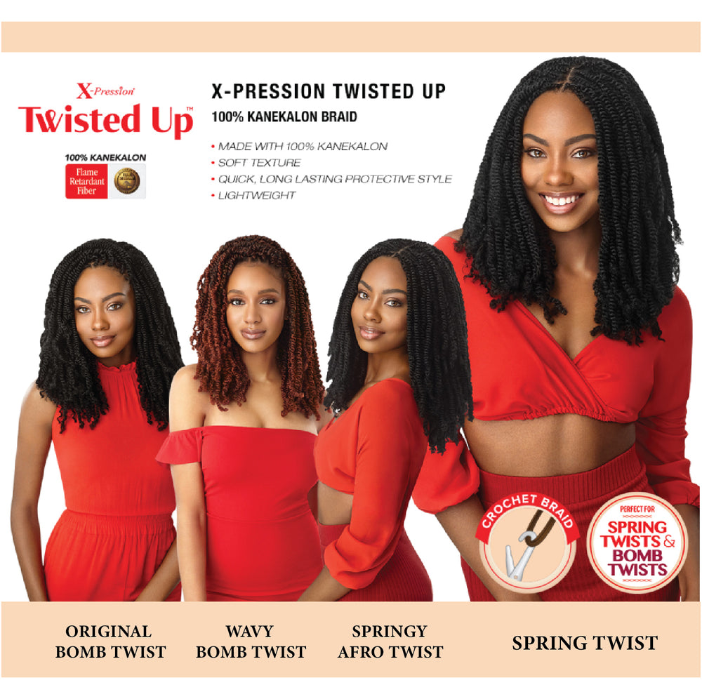 TWISTED UP - WAVY BOMB TWIST CURLY TIP 12""