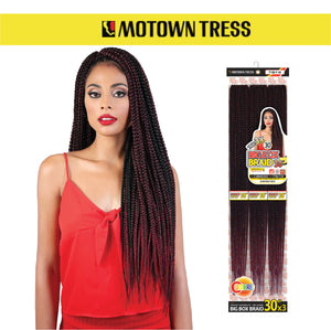 Load image into Gallery viewer, MOTOWN TRESS 3X BOX BRAID 30""