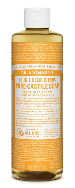 PURE-CASTILE LIQUID SOAP CITRUS (16OZ / 8OZ)
