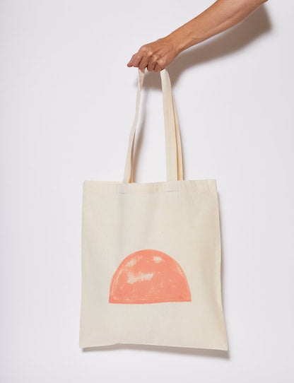 The Vallentine Project hand painted reusable calico shopping bag