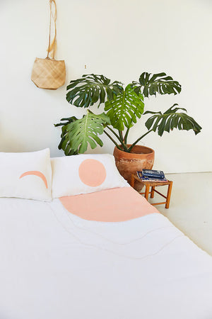 Blush Crescent Moon Pillowcase