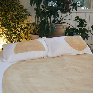 Sand Eclipse Luxury Linen Duvet Set