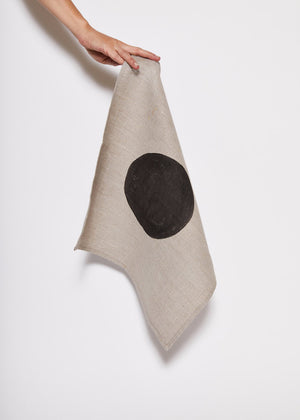 Linen Napkin with Black Eclipse