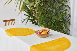 Bauhaus Linen Tablecloth in Sunshine