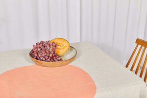 Bauhaus Linen Tablecloth in Blush