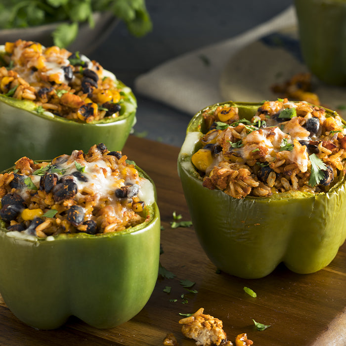 Beef Overstuffed Peppers