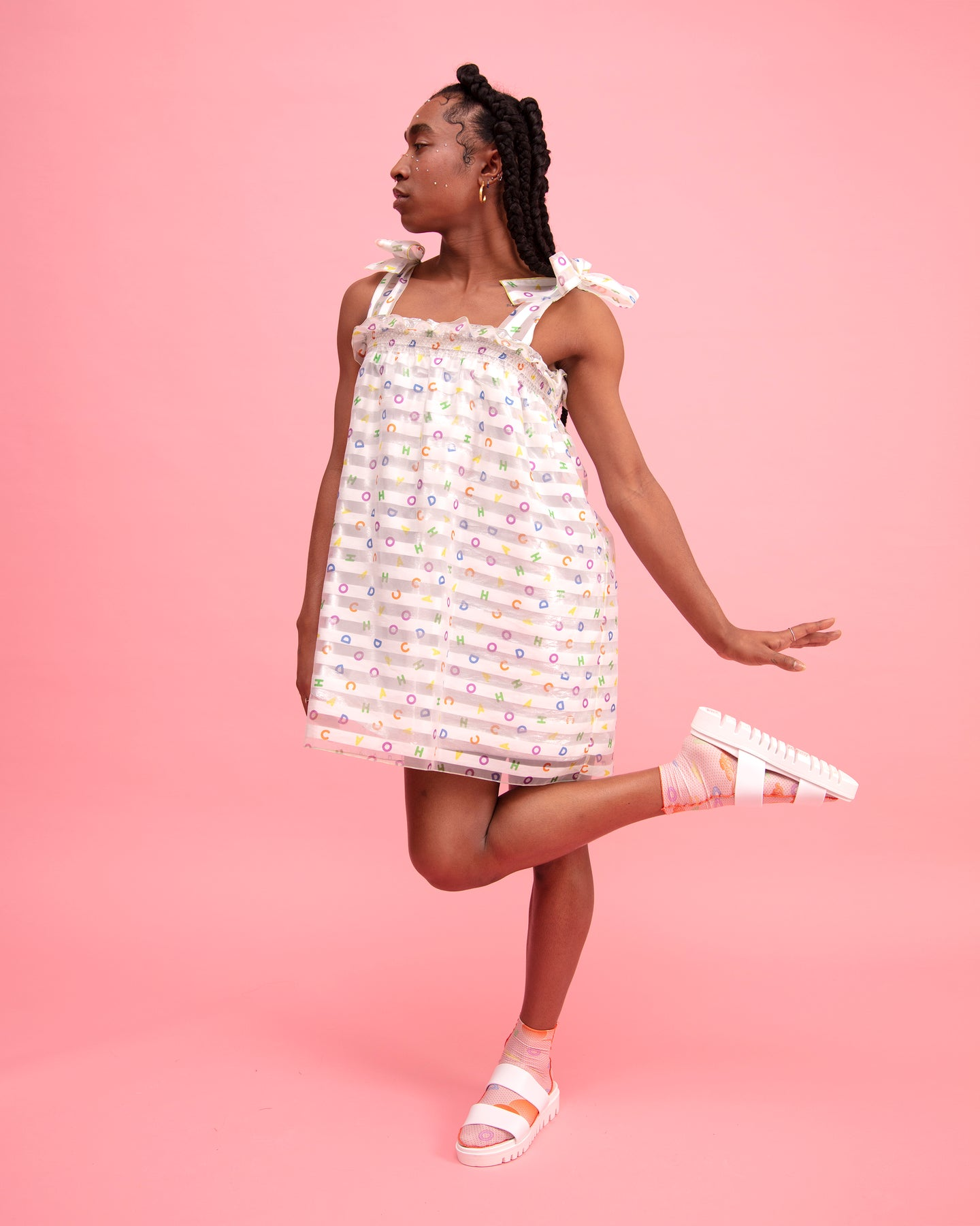 Alphabetti Puff Dress