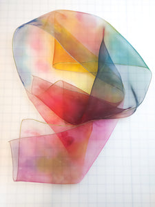 Painted Love Organza Scarf
