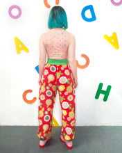 Load image into Gallery viewer, Fleecy Slouch Pants in Red Pop Floral