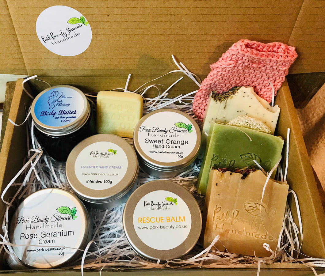 Coming soon... Natural Skincare box full of products for the skin body & mind