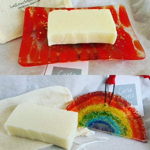 Rainbow Window Hanger and Handmade Soap Dish