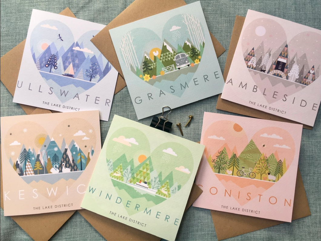 Pack of 6 Locally Designed Greetings Cards