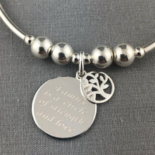 Load image into Gallery viewer, 'Family' Sterling Silver Hand-made Women's Stacking Charm Bracelet