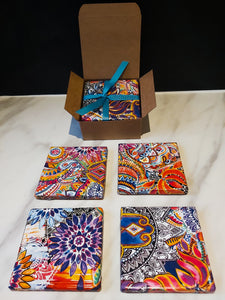 Decorative Ceramic Coasters made from Recycled Tiles