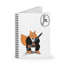 Load image into Gallery viewer, Spiral Notebook - Ruled Line - Bassoon Tuxedo Fox