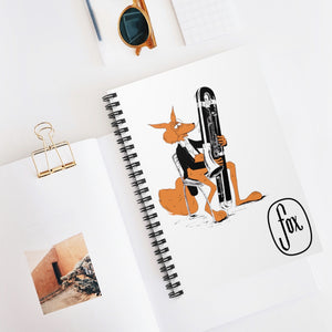 Spiral Notebook - Ruled Line - Contrabassoon Tux Fox