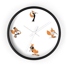 Load image into Gallery viewer, Oboe Cartoon Fox Wall clock