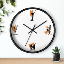 Load image into Gallery viewer, Bassoon Cartoon Fox Wall clock
