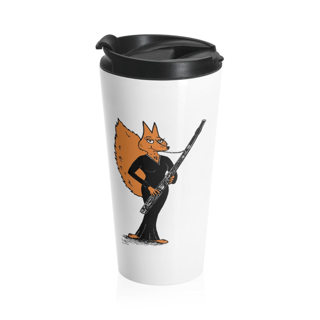 Stainless Steel Travel Mug - Bassoon Gown Fox