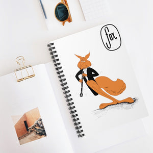 Spiral Notebook - Ruled Line - English Horn Tuxedo Fox