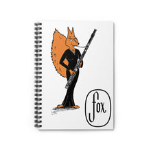 Load image into Gallery viewer, Spiral Notebook - Ruled Line - Bassoon Gown Fox