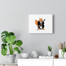 Load image into Gallery viewer, Canvas Gallery Wraps - Bassoon Tuxedo Fox
