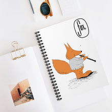 Load image into Gallery viewer, Spiral Notebook - Ruled Line - Oboe Sweater Fox