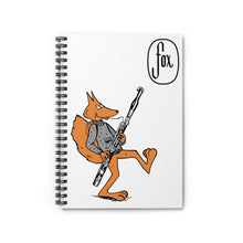 Load image into Gallery viewer, Spiral Notebook - Ruled Line - Bassoon Sweater Fox