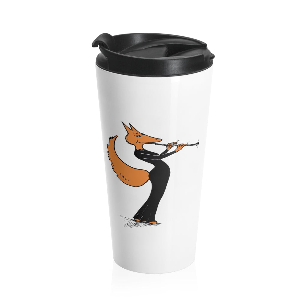 Stainless Steel Travel Mug - Oboe Gown Fox