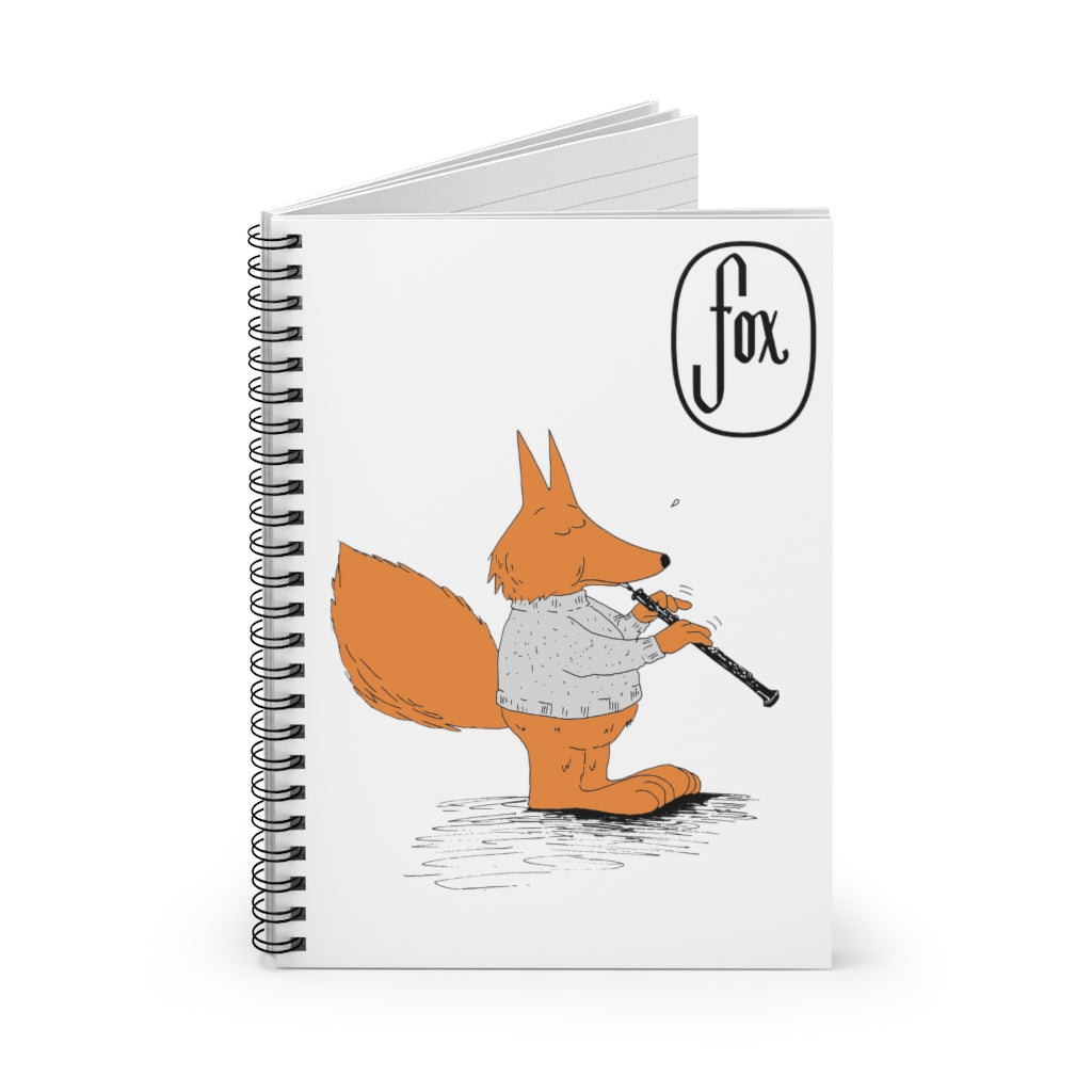Spiral Notebook - Ruled Line - Oboe Sweater Fox