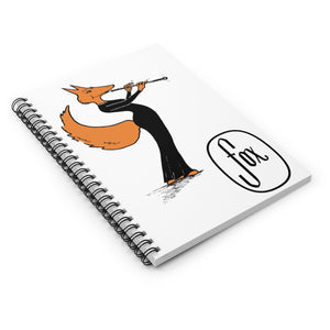 Spiral Notebook - Ruled Line - Oboe Gown Fox