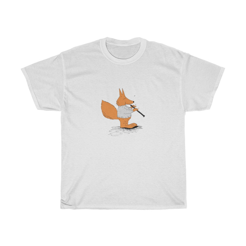Unisex Heavy Cotton Tee - Oboe Sweater Fox