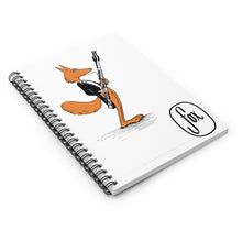 Load image into Gallery viewer, Spiral Notebook - Ruled Line - Bassoon Tux Fox