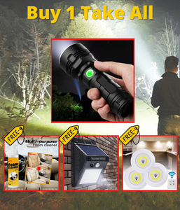 1 Pc Taclight + 1 pc Solar LED + Wireless LED + Foam Cleaner