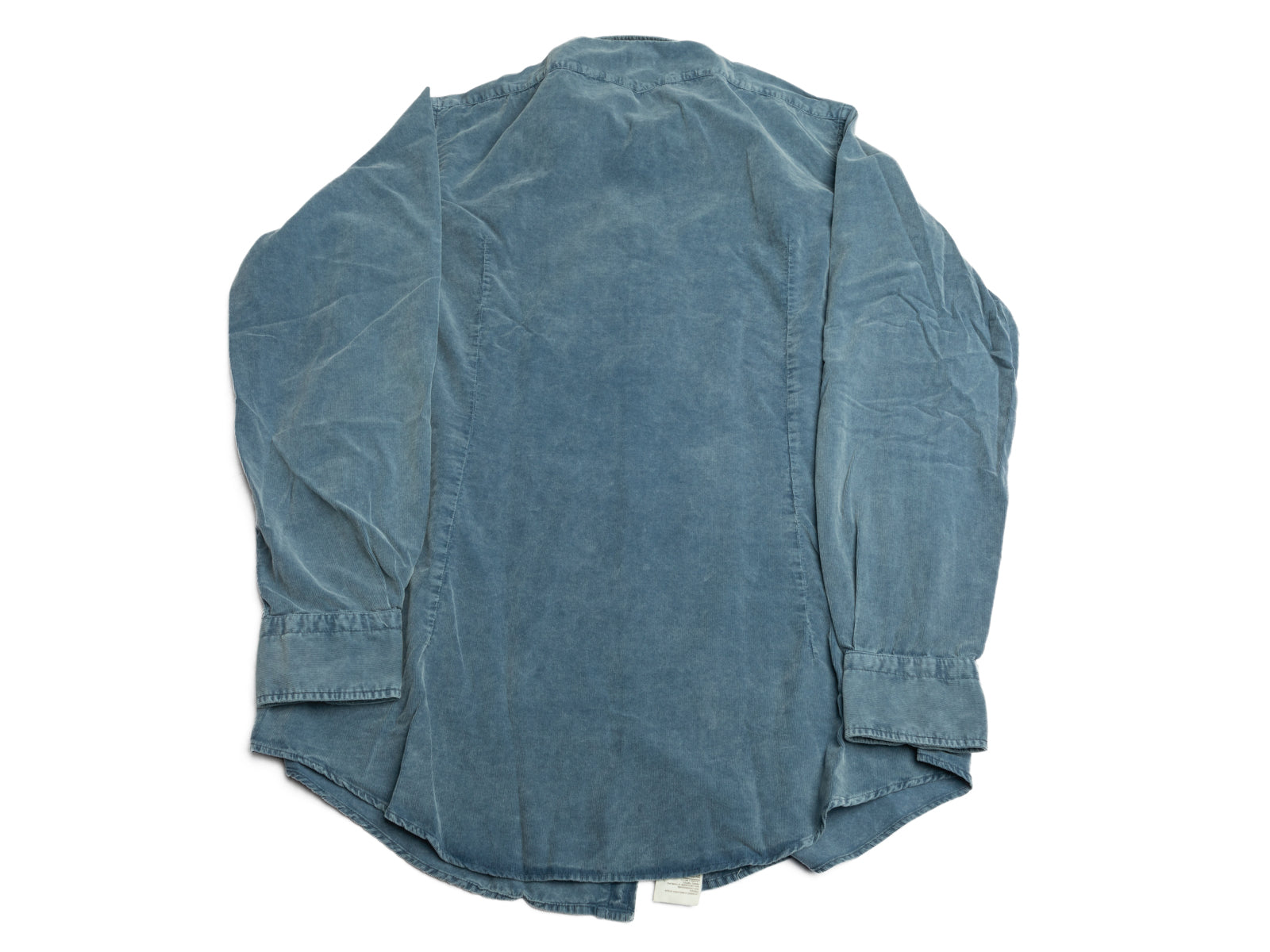 Washed Power Blue Baby Corduroy