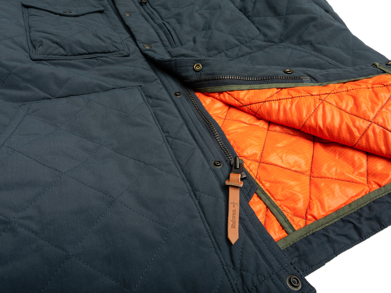 Navy Quilted Tanker