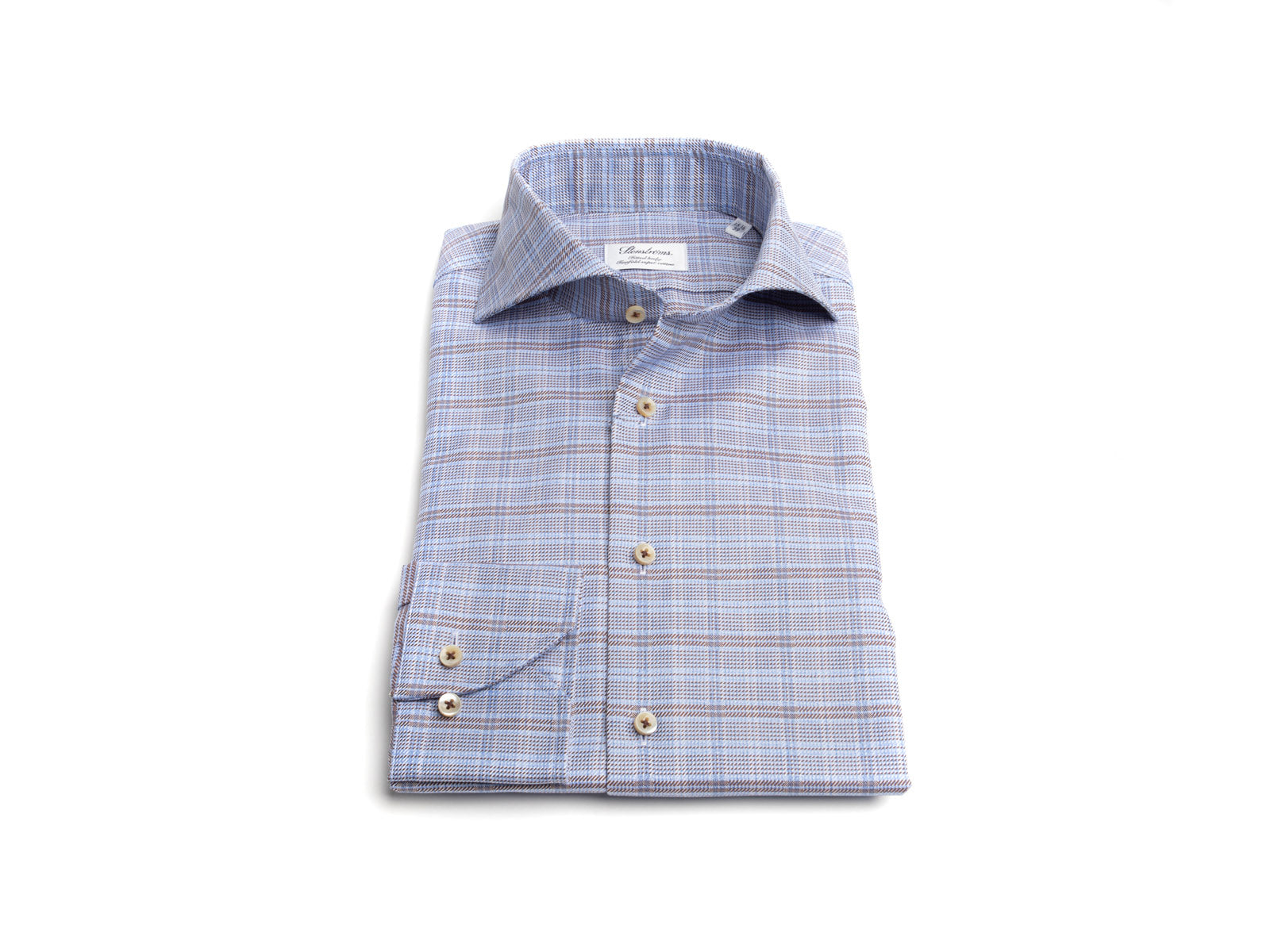 Blue/Brown Plaid Dress Shirt